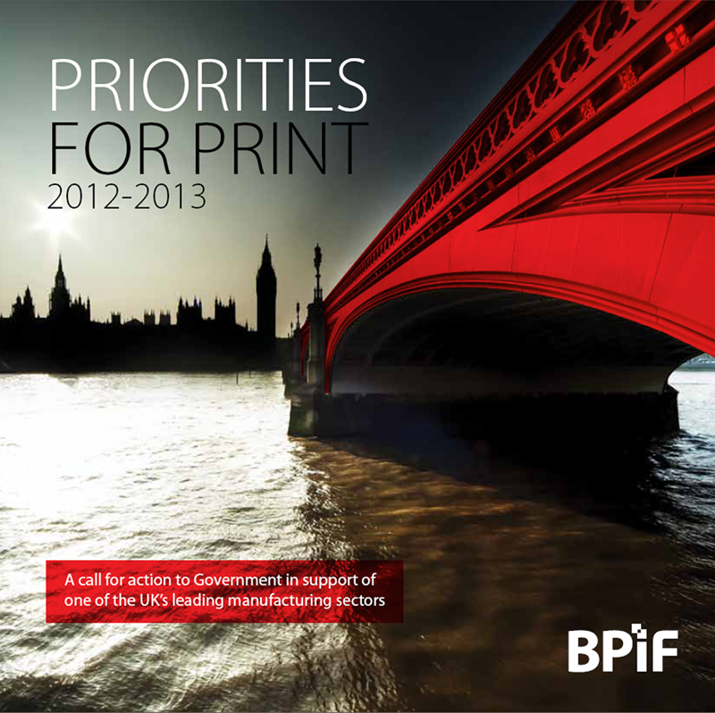 Priorities for Print 2012 - 2013