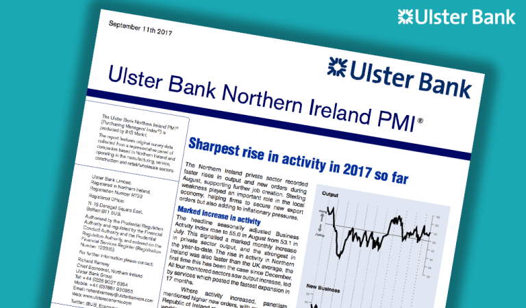 Northern Ireland experiences sharpest rise in activity so far in 2017