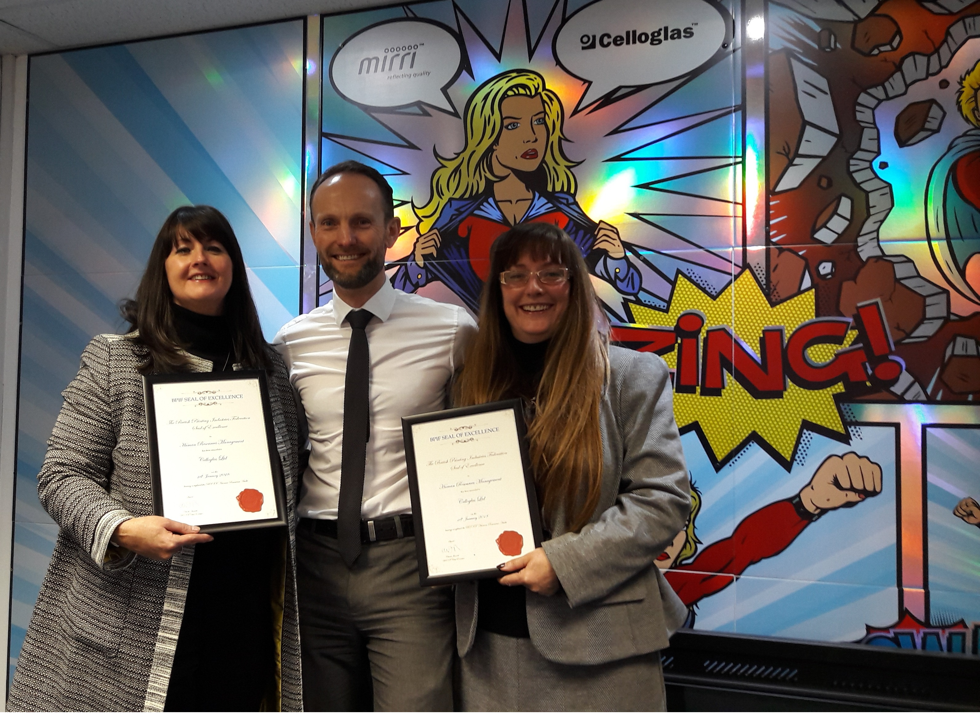 Celloglas achieve HR Seal of Excellence