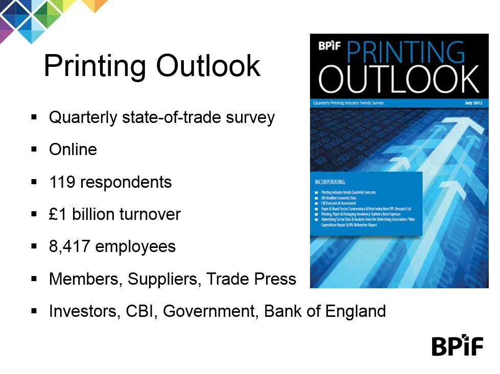 BPIF presentation of the Printing Outlook report from Q1 2018
