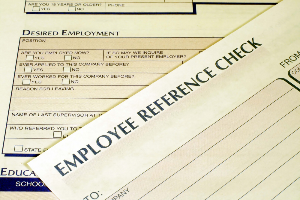 HR update; employment references