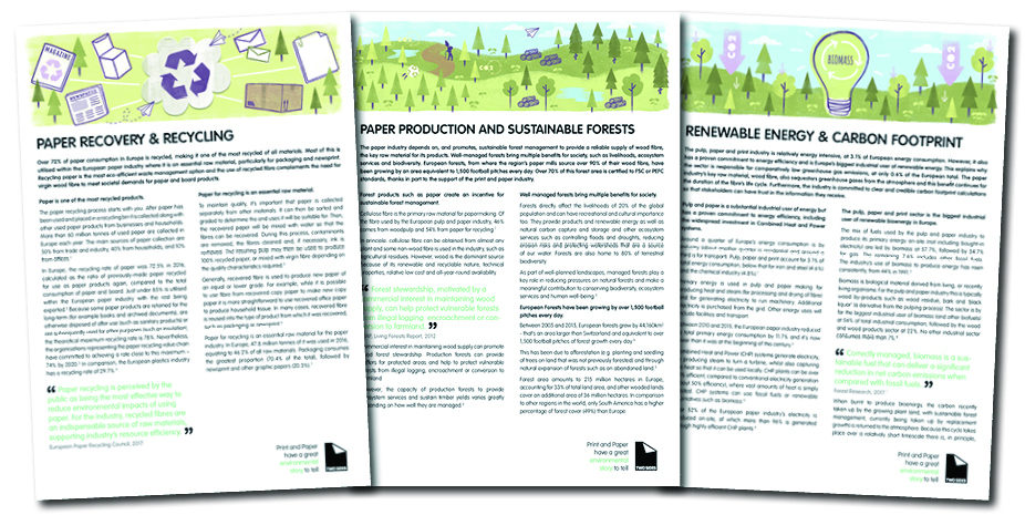 Two Sides new Fact Sheets