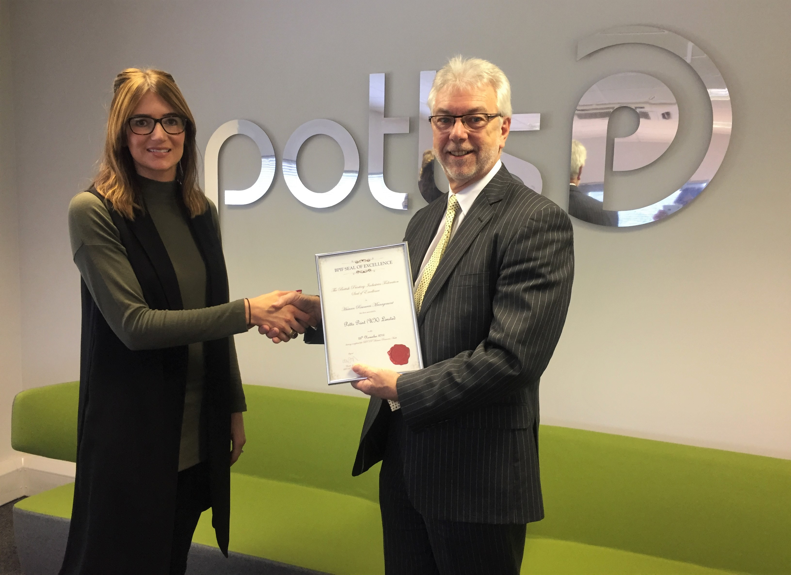 BPIF member Potts Print achieves BPIF HR Seal of Excellence