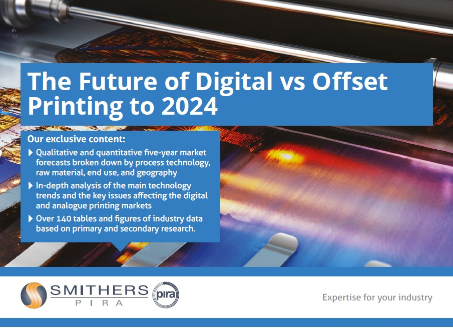 The future of digital vs offset printing to 2024 - Smithers Pira