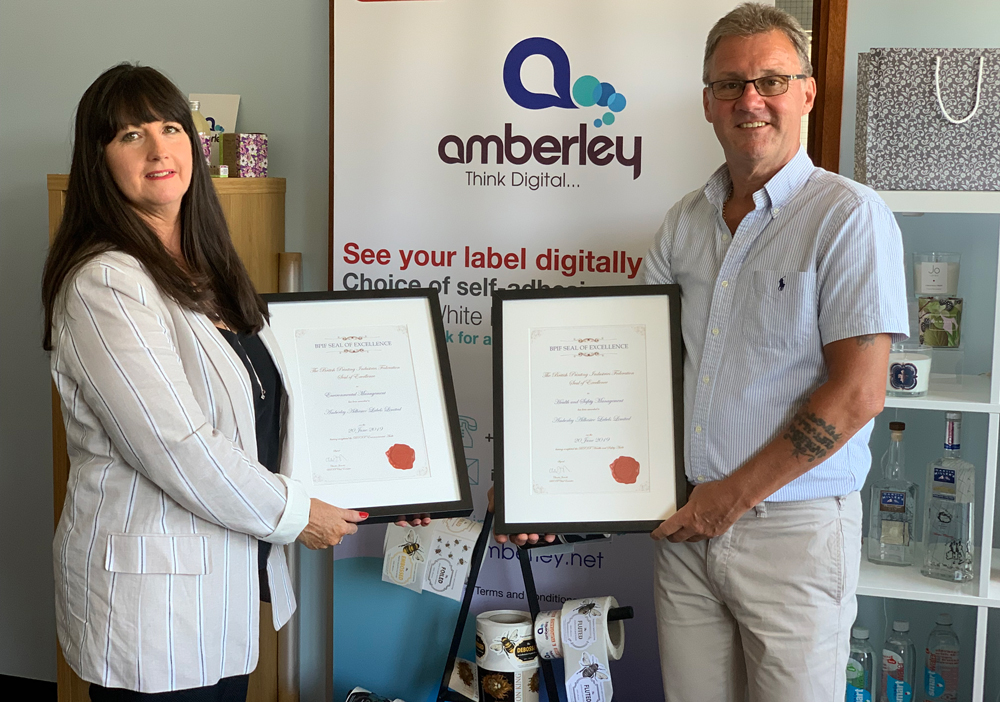 Double Seal of Excellence for Amberley Adhesive Labels
