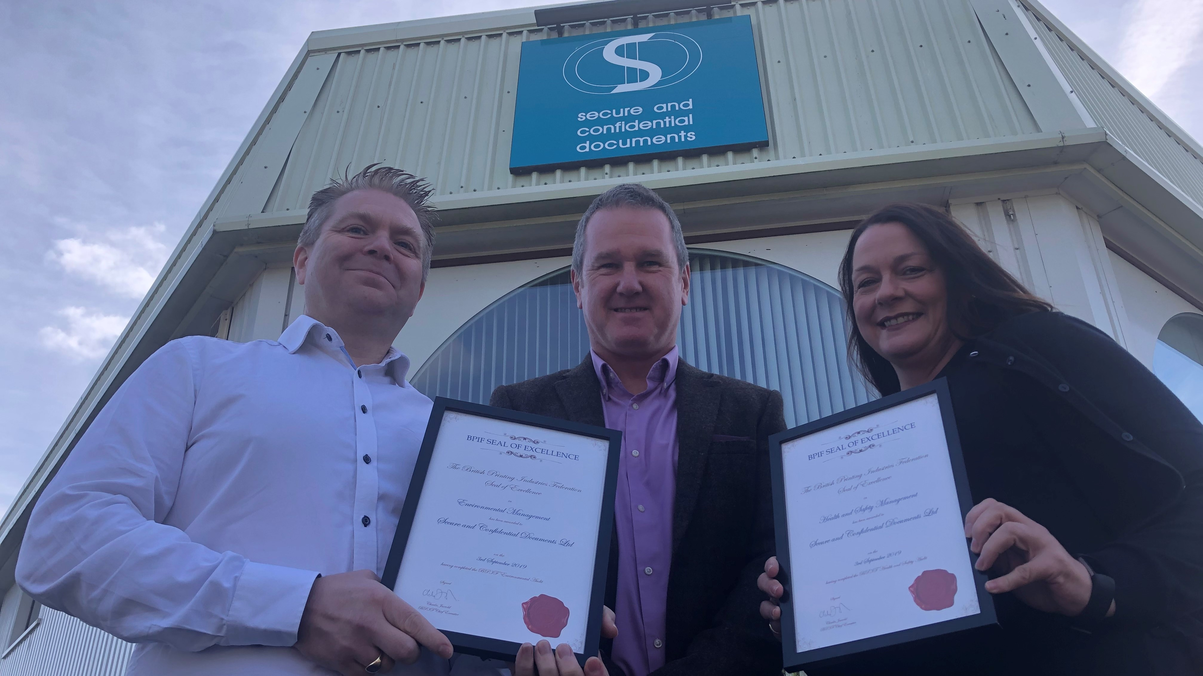 Double Seal of Excellence for Secure and Confidential Documents Ltd